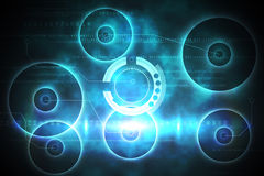 Blue and black technology design Stock Images