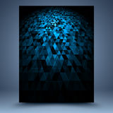 Blue and black geometric abstract background