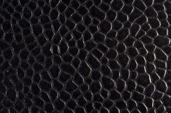 Blue black textured leather Stock Photography