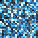 Blue black tiles Stock Photo