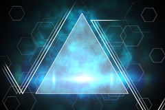 Blue and black triangle design Royalty Free Stock Photo