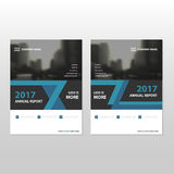 Blue black triangle Vector annual report Leaflet Brochure Flyer template design, book cover layout design. Abstract business presentation template, a4 size stock illustration