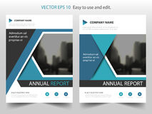 Blue black Vector annual report Leaflet Brochure Flyer template design, book cover layout design, abstract business presentation. Template, a4 size design stock illustration