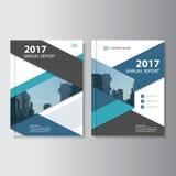 Blue black Vector annual report Leaflet Brochure Flyer template design, book cover layout design. Set vector illustration