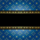 Blue and black vintage background - vector Royalty Free Stock Photo