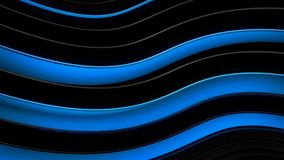 Blue and black wavy curves abstract 3D rendering. Blue and black wavy curves. Abstract 3D rendering Royalty Free Illustration