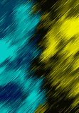 Blue black and yellow painting texture Stock Images