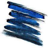 Blue and black zigzag brush stroke. Isolated on the white background. Element for your design Stock Image