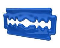 Blue blade razor icon Stock Photo