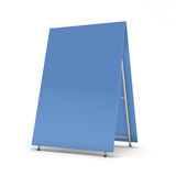 Blue blank billboard for advertising. On white background. 3d render image Stock Photos