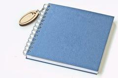 Blue blank book, Diary Stock Photos