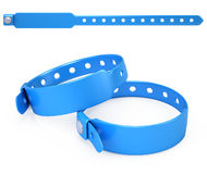 Blue blank bracelet  on white Stock Photos