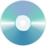 Blue blank CD Stock Photo