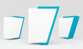 Blue blank lightbox Stock Photos