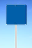 Blue blank sign Stock Photography