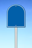 Blue blank sign Royalty Free Stock Image