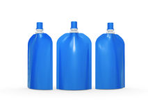 Blue blank stand up  bag packaging with spout lid, clipping path Royalty Free Stock Images