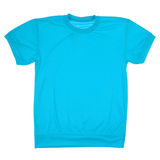 Blue blank t-shirt (Clipping path) Royalty Free Stock Photo