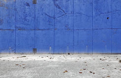 Blue blank wall. Royalty Free Stock Photos