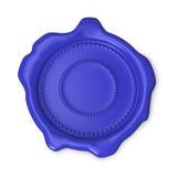 Blue blank wax seal Royalty Free Stock Photo