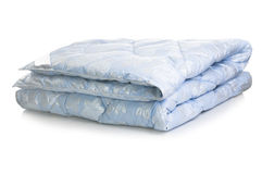 Blue blanket Stock Photography