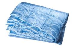 Blue blanket in white background Stock Photo