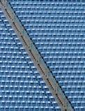 Blue Bleachers. A set of blue bleachers Royalty Free Stock Photography