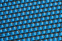 Blue Bleachers Stock Photo