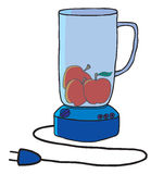 Blue blender cartoon Stock Photo