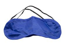 Blue Blindfolded. Royalty Free Stock Photography