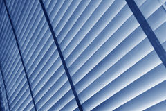Blue blinds Stock Images