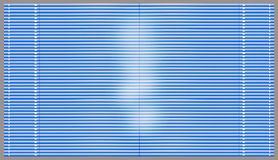 Blue blinds. Blue window blinds float light Royalty Free Stock Photo