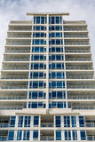 Blue Blinds and Balconies Royalty Free Stock Photography