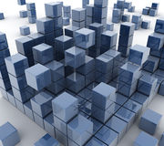 Blue block. This is a computer generated and 3d rendered picture Royalty Free Stock Images