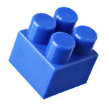 Blue block of meccano stock images