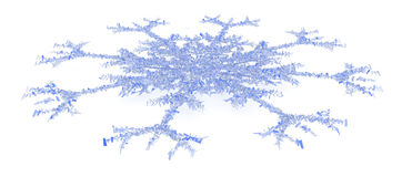 Blue Block Snowflake Stock Photos