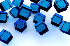 Blue blocks. Royalty Free Stock Images