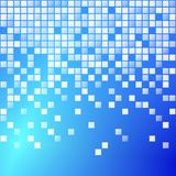 Blue Blocks. Simple abstract style background design made up of little squares falling downwards Vector Illustration