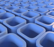 Blue blocks Royalty Free Stock Photos