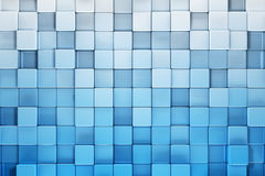 Blue blocks abstract background Stock Images