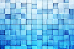Blue blocks abstract background. 3d render Royalty Free Stock Images