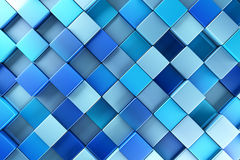 Blue blocks abstract background. 3d render Royalty Free Stock Photos