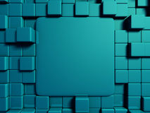 Blue blocks abstract 3d background. 3d render illustration Stock Photo