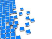 Blue blocks background Stock Image