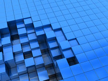 Blue blocks background. Abstract 3d illustration of blue blocks background Royalty Free Stock Images