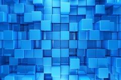 Blue blocks background Royalty Free Stock Photos
