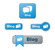 Blue blog buttons Royalty Free Stock Image