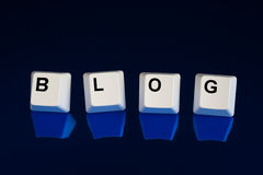 Blue Blog keys Stock Photos