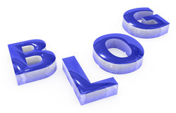 Blue blog sign Royalty Free Stock Photos