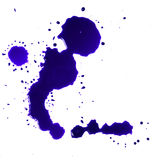 Blue Blood stains puddle royalty free stock photo